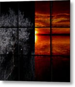 Which Side You On Metal Print