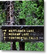 Which Way To Mayflower Lake Metal Print
