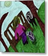 While Riding My Pony I Noticed A Butterfly Metal Print