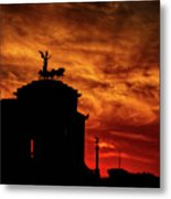 While Rome Burns Metal Print
