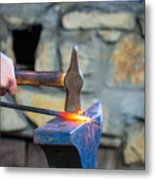 While The Iron Is Hot Metal Print