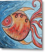 Whimpsy Fish 2 Metal Print by Rain Ririn