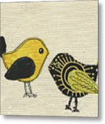 Whimsical Bird 2 Metal Print