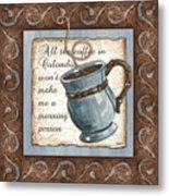 Whimsical Coffee 1 Metal Print by Debbie DeWitt