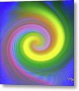 Whimsical Inward Twirls #111 Metal Print