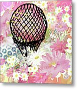 Whimsical Musing High In The Air Pink Metal Print