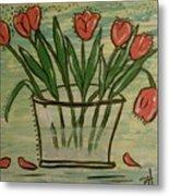 Whimsical Tulips Metal Print