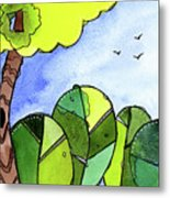 Whimsy Trees Metal Print