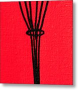 Whip It Good Red Metal Print