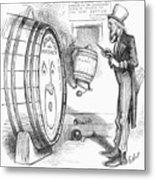 Whiskey Ring Cartoon, 1876 Metal Print
