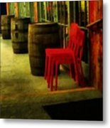 Whiskey Row Metal Print