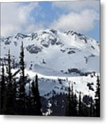 Whistler Mountain Peak View From Blackcomb Metal Print by Pierre Leclerc Photography