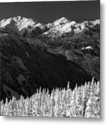 Whistler Winter Scenery Metal Print