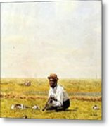 Whistling For Plover 1874 Metal Print