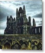 Whitby Abbey, England Metal Print