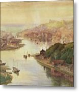 Whitby From Larpool Metal Print
