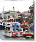 Whitby Harbour Metal Print