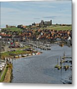 Whitby Marina And The River Esk Metal Print