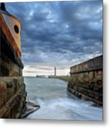 Whitby Morning Tide 2 Metal Print