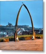 Whitby Whalebone Blue Hour Metal Print