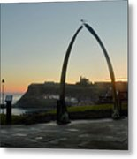 Whitby Whalebone Golden Hour Metal Print