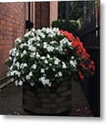 White And Red Metal Print