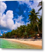 White Beach Boracay Metal Print