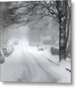White Blanket Metal Print