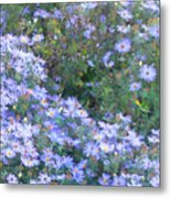 White Blue Cluster Metal Print