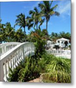 White Bridge Metal Print