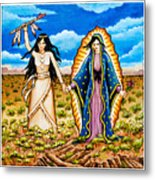 White Buffalo Woman And Guadalupe Metal Print