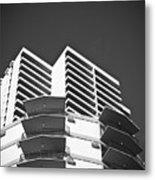 White Building To The Sky In Oahu Hawaii Metal Print