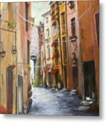 White Cat Lane Metal Print