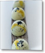 White Chocolate With Black Sesame Metal Print