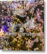 White Christmas Card Metal Print