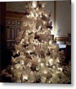 White Christmas Snow Ball Gala Metal Print