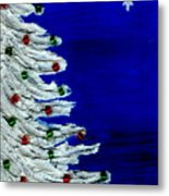 White Christmas Tree Metal Print