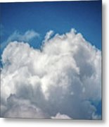 White Clouds In The Sky Metal Print