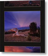 White Clouds Triptych Metal Print