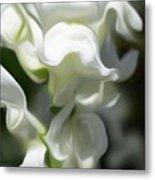 White Creamy Peaceful Metal Print