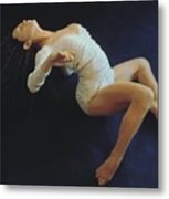 White Dancer Right View Metal Print