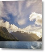White Dragon Cloud In The Sky At Lake Manapouri Metal Print