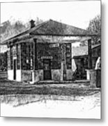 White Eagle Gas Station Metal Print