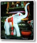 White Elephant. Meaning A Big Expensive Metal Print