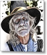 White Faced Cowboy Metal Print