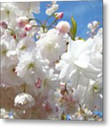 White Floral Tree Flower Blossoms Art Baslee Troutman Metal Print