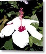 White Flower Work Number 4 Metal Print