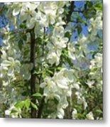 White Flowers 2 Metal Print