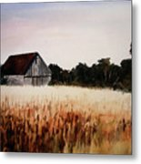 White For Harvest Metal Print