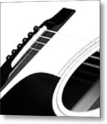 White Guitar 10 Metal Print